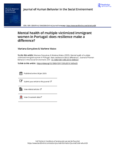 Mental health of multiple victimized immigrant women in Portugal does resilience make a difference.PDF